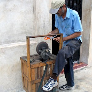 If you hear a penny whistle outside, it means the knife sharpener is on your street. You can get almost any service at your doorstep in Merida. <a href=></a>