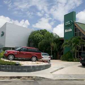 The Range Rover dealership next door to the Jaguar dealership. <a href=></a>
