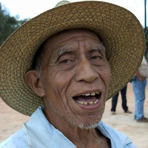 A farmer in southwest Yucatan has tended his milpa, growing corn and beans, nearly all of this long life. <a href=></a>