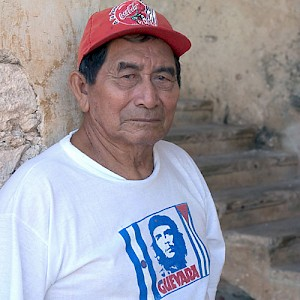 The caretaker of a local Hacienda has seen it all, as his face (and clothes) plainly suggest. <a href=></a>