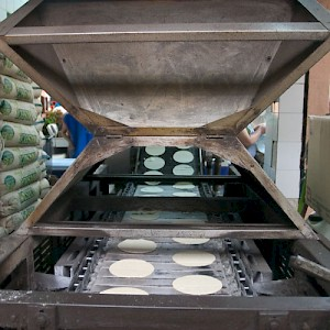 Although tortillas made by hand are the best, a fresh tortilla from a machine still beats out the packaged, store-bought kind. <a href=></a>