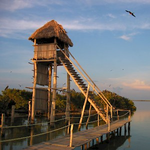 A bird watching station near Holbox Island. <a href=></a>