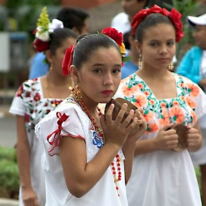 Traditional Yucatecan dress hasn't changed in a hundred years <a href=></a>