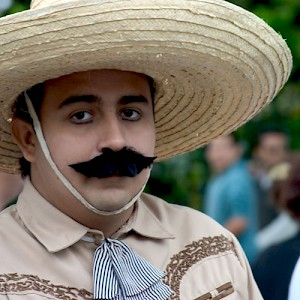 A student portraying Pancho Villa <a href=></a>