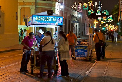 Marquesitas sold on the streets of Merida <a href=></a>