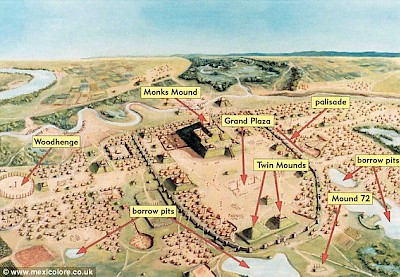 Cahokia as envisioned by archaeologists <a href=></a>