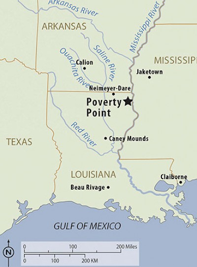 Poverty Point in Louisiana <a href=></a>