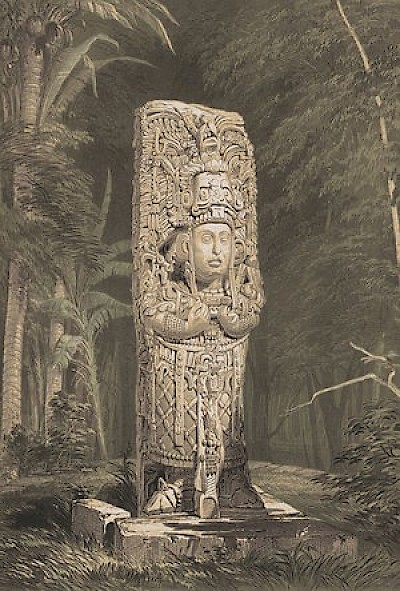 Stela D at Copan, as drawn by Catherwood <a href=></a>