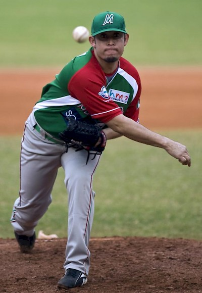 Marco Quevedo, Pitcher of the Leones <a href=></a>
