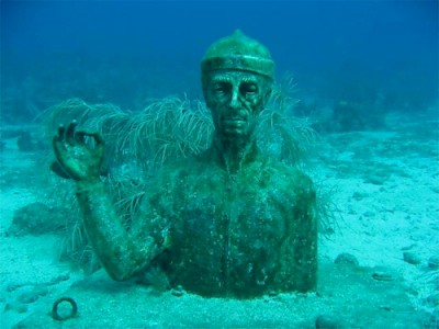 A statue of Jacques Cousteau on Pigeon Island &amp;lt;a href=&amp;gt;&amp;lt;/a&amp;gt; &lt;a href=&gt;&lt;/a&gt; <a href=></a>