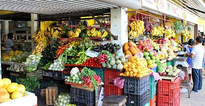 Photo of fruit stand in Progreso by Yucatan Man &lt;a href=&gt;&lt;/a&gt; <a href=></a>