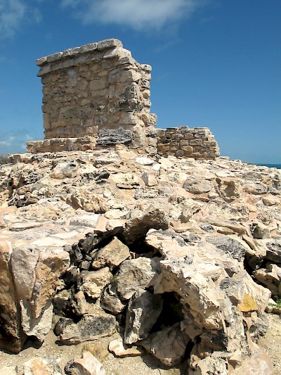 The structure dedicated to Ixchel on Isla Mujeres as it looks today. <a href=></a>