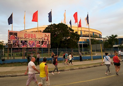 Major stadium associated with Ciudad Desportes (Sports City), the site of the Rolling Stones concert. <a href=></a>