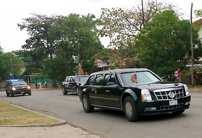 &quot;The Beast&quot; President Obama&#039;s motorcade in Havana <a href=></a>