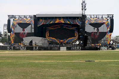 The set for the Rolling Stones Concert <a href=></a>