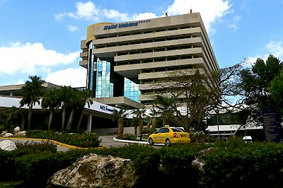 Hotel Melia Habana where President Obama met with the U.S. Embassy staff. <a href=></a>