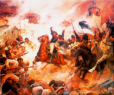Mexican Troops attack the Alamo <a href=></a>