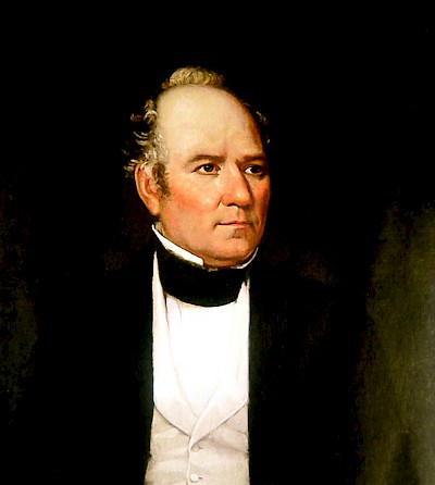 Portrait of President Sam Houston of the Republic of Texas <a href=></a>