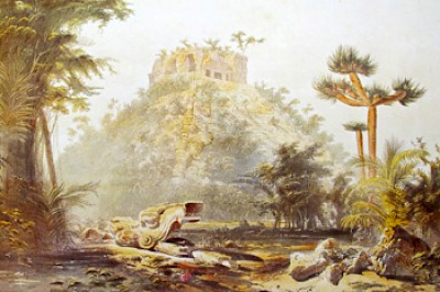 El Castillo at Chichen Itza the way it would have looked when Burke climbed it <a href=></a>