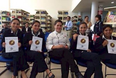 The team of hospitality students that won the competition at University de Valle de Mexico in Merida Yucatan <a href=></a>