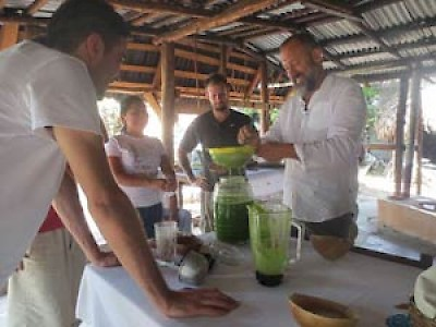 Alessandro Porcelli preparing food in Yucatan for Cook It Raw <a href=></a>
