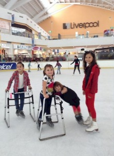 Homeschoolers ice skating in Merida Yucatan <a href=></a>