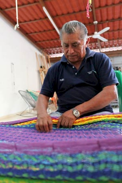 Repairing a hammock at Hammock Boutique <a href=></a>