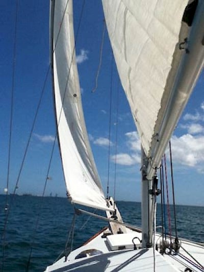 Sailing off of the Yucatan Gulf Coast <a href=></a>