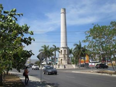 Wide boulevard in north Merida Yucatan <a href=></a>