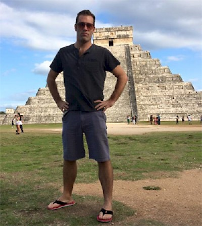 Joshua Gatcke at Chichen Itza in Yucatan <a href=></a>