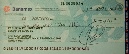 How to write a cheque hsbc mexico